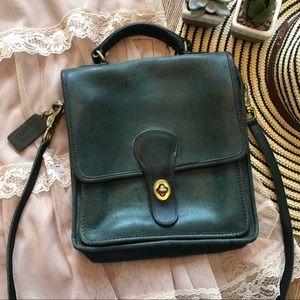 VTG RARE COACH Leather Vintage Green Crossbody Bag